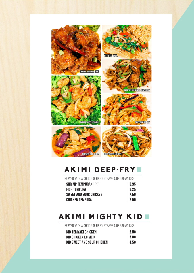 Menus Of Texas - Akimi Sushi & Stir-Fry - Menu