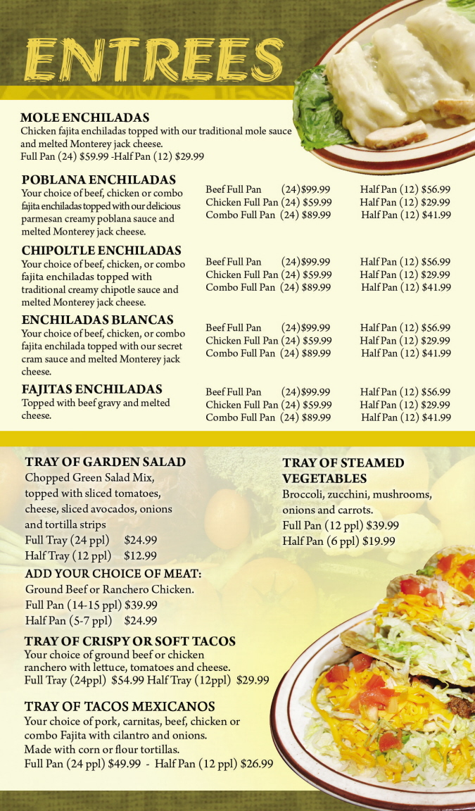 Menus Of Texas - Mama Juanita's Mexican Restaurant - Catering Menu