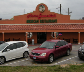 Menus Of Texas - Mama Juanitas Mexican Restaurant - Huntsville