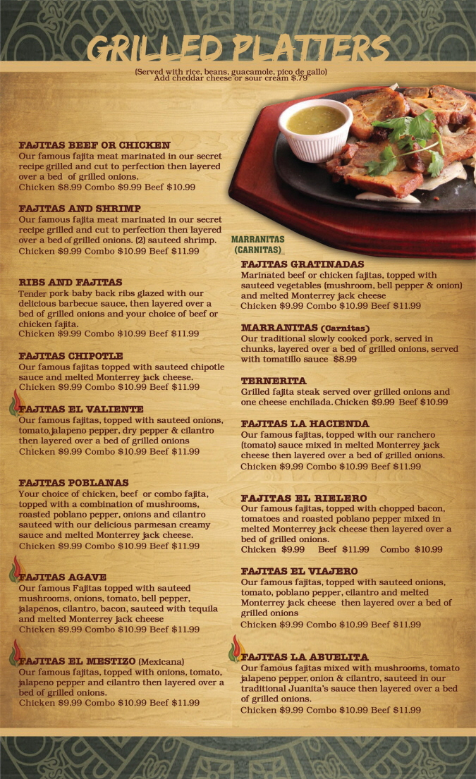 Menus Of Texas - Mama Juanita's Mexican Restaurant - Lunch Menu