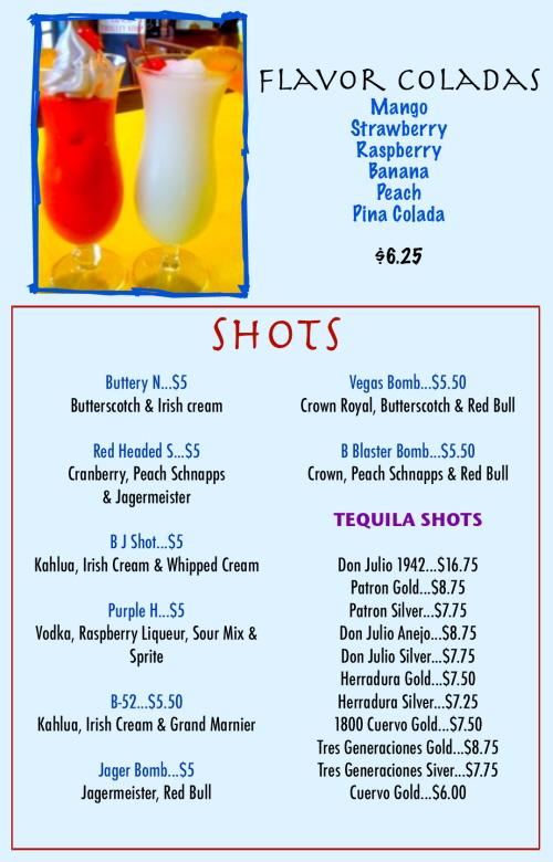 Menus Of Texas - Rancho Grande Bar & Grill - Bar Menu