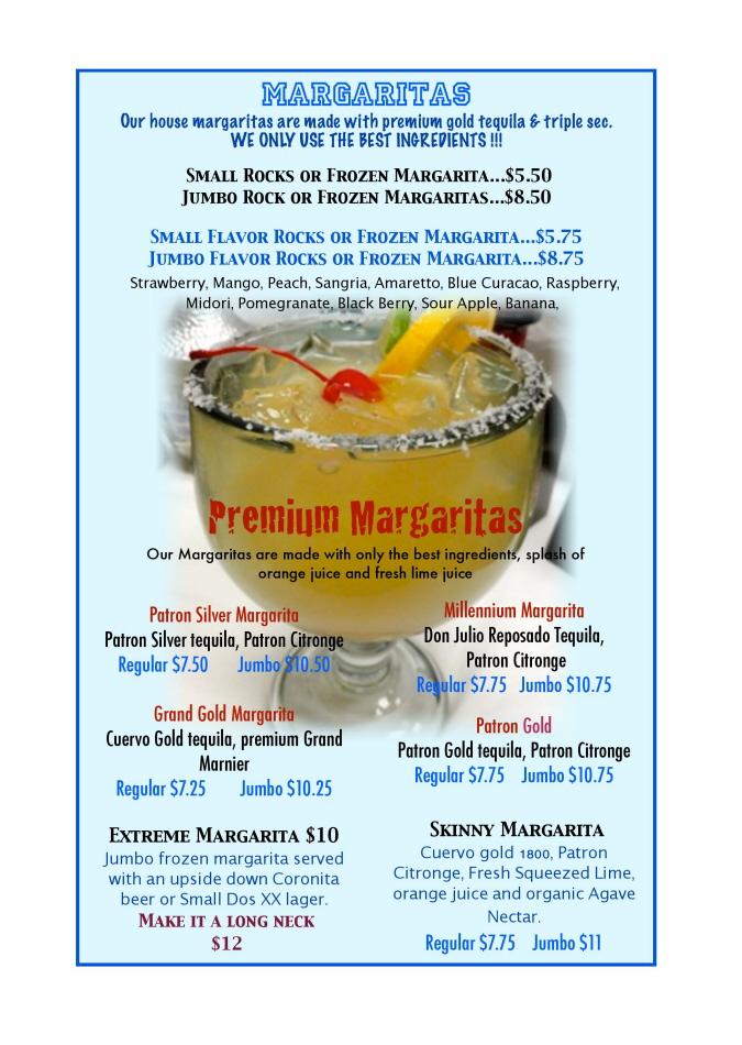 Menus Of Texas - Sombrero Mexican Grill - Bar Menu
